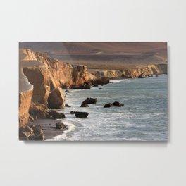 Peruvian Coastline Metal Print