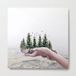 Save the Forest Metal Print