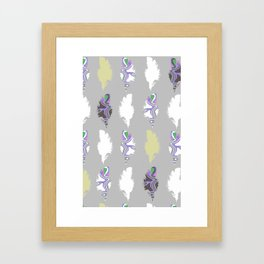 Inky Feathers Framed Art Print