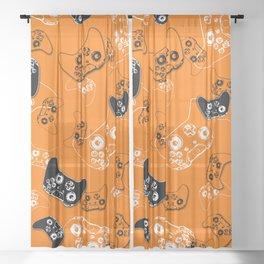 Video Game Orange Sheer Curtain
