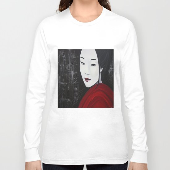 Japanese Beatufil Girl Long Sleeve T-shirt