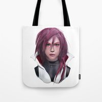 3d Tote Bags featuring 3d by Aldis Leal