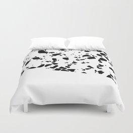 Terrazzo Texture Black and White #8 Duvet Cover
