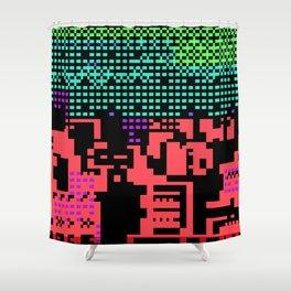 cityscape 07A ZX (C64 Re-remix) (2011) Shower Curtain