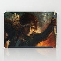 katniss iPad Cases featuring Katniss Everdeen by Emily Doyle
