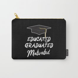 Educated Graduated Motivated Graduation Promotion Carry-All Pouch