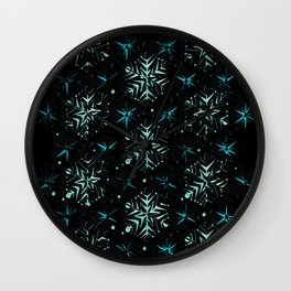 3D Abstract Fractal Element Pattern Wall Clock