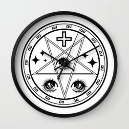 witch girl loli domine  Wall Clock