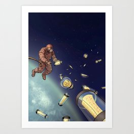 Messages from Space Art Print