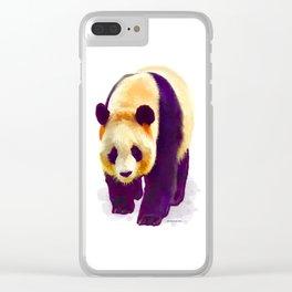 Panda 3 Clear iPhone Case