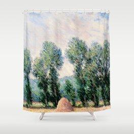 Haystacks by Claude Monet Shower Curtain