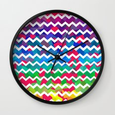 Mixed Colors Wall Clock