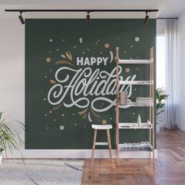 Happy Holidays Wall Mural