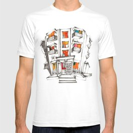 Japanese building T-shirt
