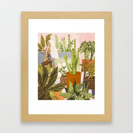 Playing For My Plants Framed Art Print