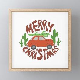 Merry Christmas Framed Mini Art Print