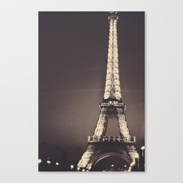 Dreamy Eiffel Tower Canvas Print