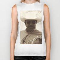 cowboy Biker Tanks featuring Cowboy by DistinctyDesign