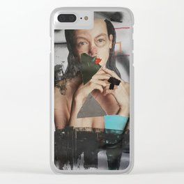 fuck work Clear iPhone Case