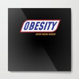 Obesity Never Ending Hunger Metal Print