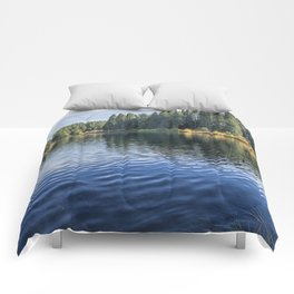 Rippled Reflections on Clear Lake Comforters