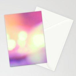 Bokeh light leaks art Stationery Cards