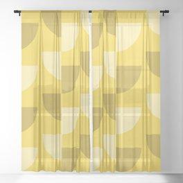Lemon Slices in the Summer Sun Sheer Curtain