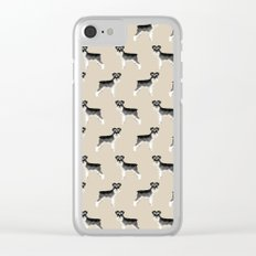 Schnauzer minimal basic dog art pattern design perfect gifts for schnauzers dog breed Clear iPhone Case
