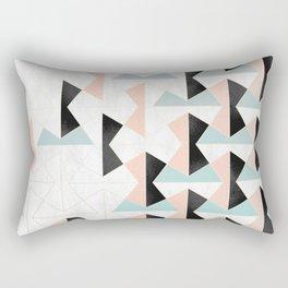 Mixed Material Tiles Rectangular Pillow