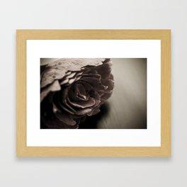 Wooden Flower - Vintage Framed Art Print