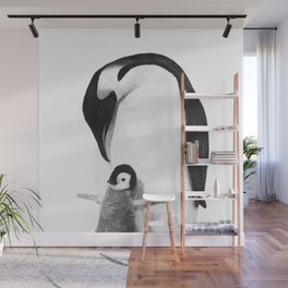 Black and White Penguins Wall Mural