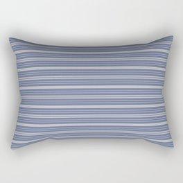 Blue Gray Stripes Rectangular Pillow