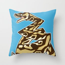 150329 Ball Python Throw Pillow