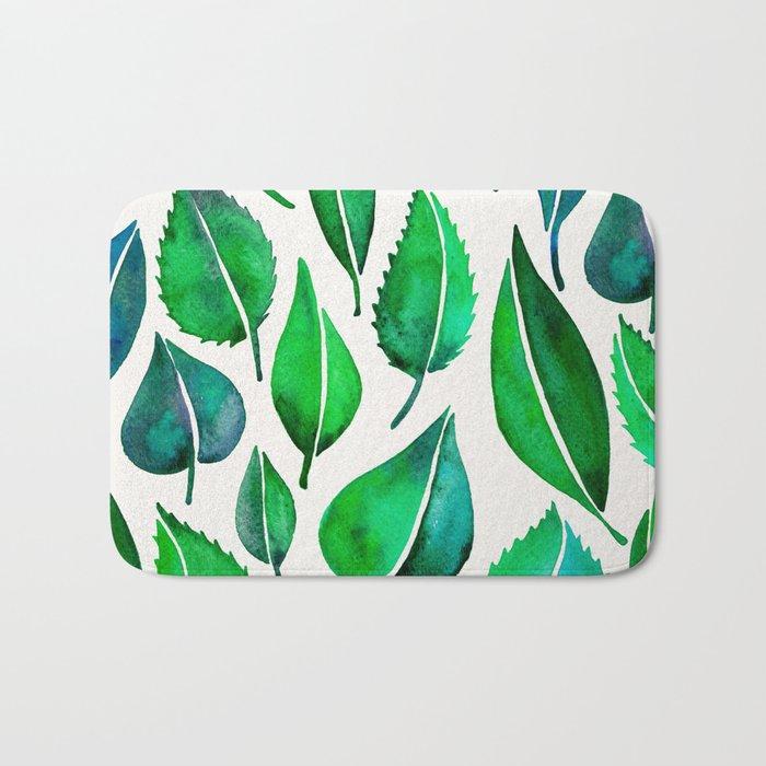 Summer Leaves Bath Mat