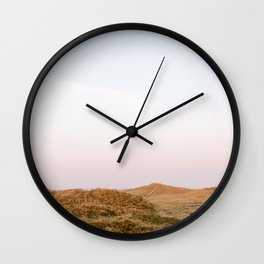 Dunes of Terschelling, Holland || Travel Photography Sunrise landscape nature Fine art Pastel Wall Clock