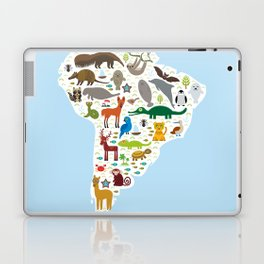 South America sloth anteater toucan lama bat fur seal armadillo boa manatee monkey dolphin Laptop & iPad Skin