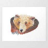 Sleapy Bear Art Print
