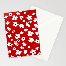 Red Flicker Beat Stationery Cards