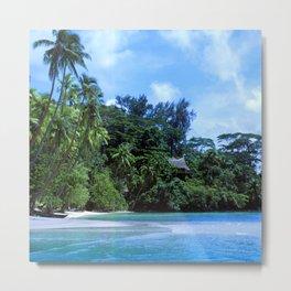 South Pacific Paradise Romantic Tropical Beach Metal Print