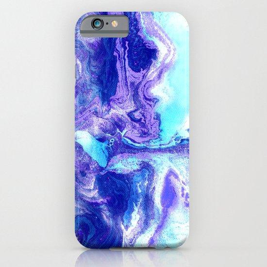 Swirling Marble in Aqua, Purple & Royal Blue iPhone & iPod Case