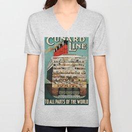 Cunard Line Unisex V-Neck