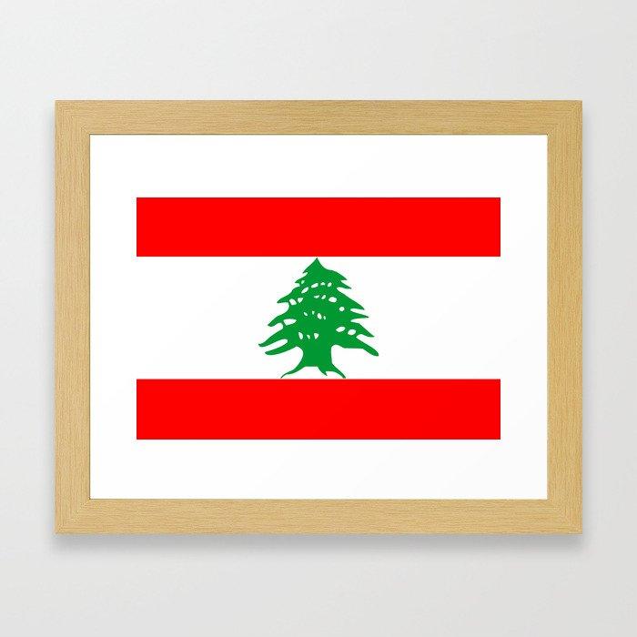 lebanon country flag tree Framed Art Print