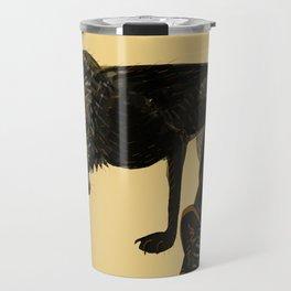 Black wolf totem Travel Mug