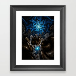 Elements: Water - Abstract Fractal Artwork Framed Art Print