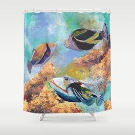 Humuhumu Tropical Fish 3 Shower Curtain