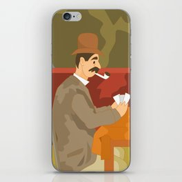 Card players by Cezanne iPhone Skin