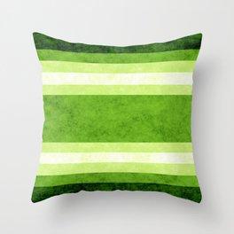 Grunge Stripes Simple Modern Minimal Pattern - Lime Green Throw Pillow