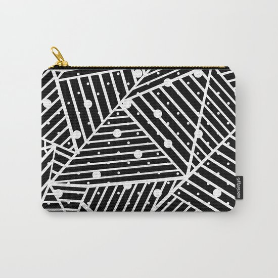 Abstraction Spots Close Up Black Carry-All Pouch
