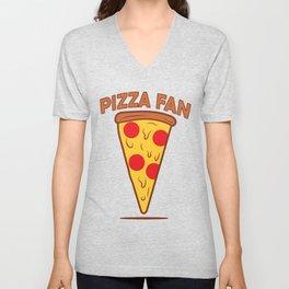 Pizza fan Unisex V-Neck