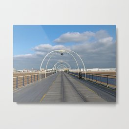 seaside view - historic southport pier Metal Print